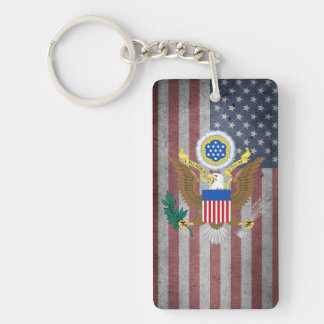 Great seal of United States Double-Sided Rectangular Acrylic Key Ring