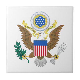 Great seal of United States Small Square Tile