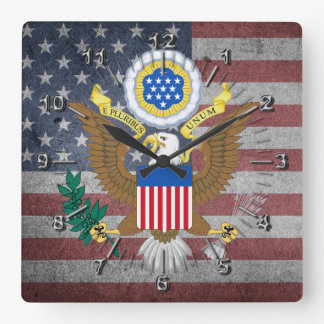 Great seal of United States Square Wall Clock