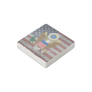 Great seal of United States Stone Magnet