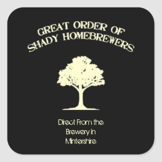 Great Shaded Tree Lable Square Sticker