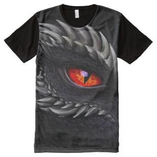 d8cd48bca Great Shadow Dragon eye Airbrush Fantasy Art All-Over Print T-Shirt