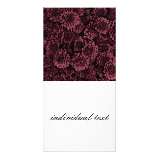 great shimmering flowers pink(I) Personalised Photo Card