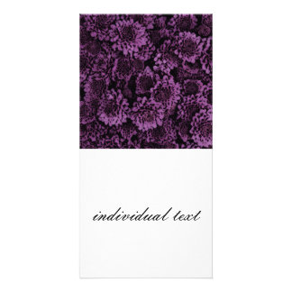 great shimmering flowers purple (I) Photo Cards