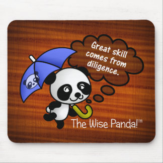 Great skill comes from diligence mouse pad