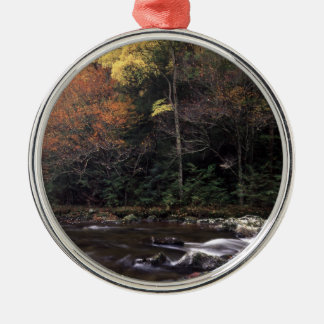 great smoky mountain national park Silver-Colored round decoration