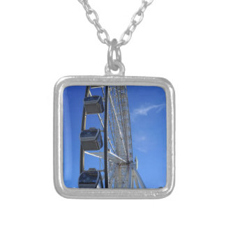 Great Smoky Mountain Wheel Silver Plated Necklace