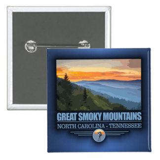 Great Smoky Mountains 15 Cm Square Badge