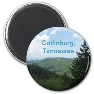 Great Smoky Mountains 6 Cm Round Magnet