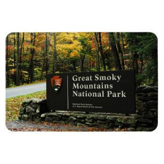 Great Smoky Mountains Autumn Sign Flexible  Magnet