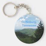 Great Smoky Mountains Basic Round Button Key Ring