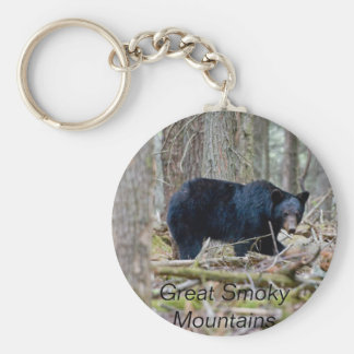 Great Smoky Mountains Basic Round Button Key Ring
