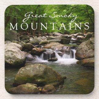 Great Smoky Mountains Cascade Waterfall Stream Beverage Coaster