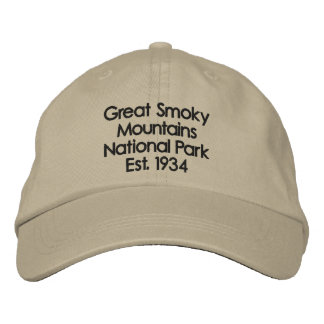 Great Smoky Mountains Hat Embroidered Baseball Caps