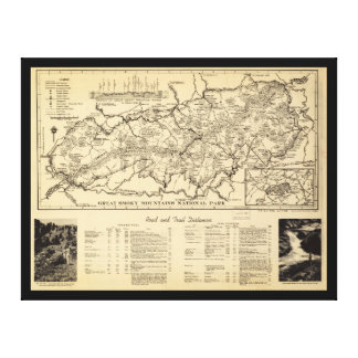 Great Smoky Mountains National Park (1940) Stretched Canvas Print