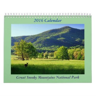 Great Smoky Mountains National Park 2016 Calendar