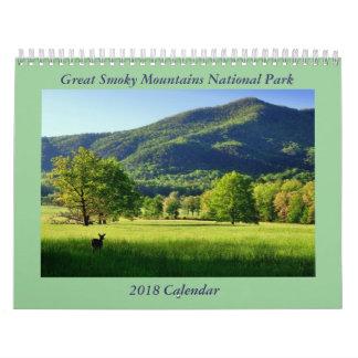 Great Smoky Mountains National Park 2018 Calendar