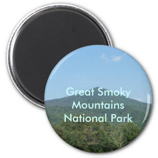 Great Smoky Mountains National Park 6 Cm Round Magnet