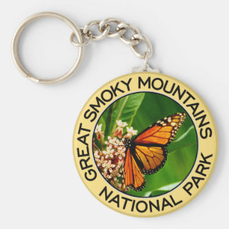 Great Smoky Mountains National Park Basic Round Button Key Ring
