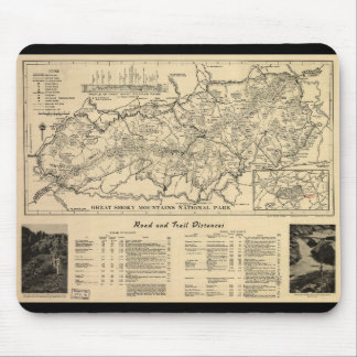 Great Smoky Mountains National Park Map (1941) Mouse Pad