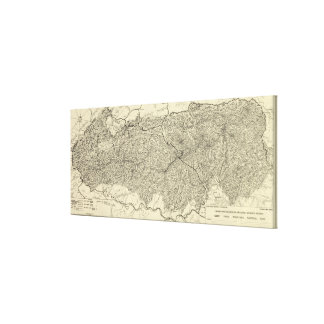 Great Smoky Mountains National Park Map Stretched Canvas Prints