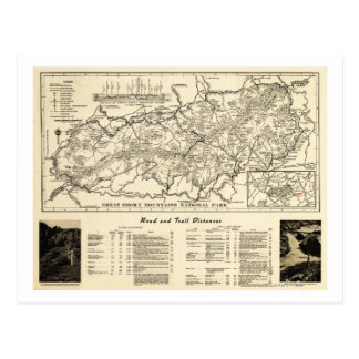Great Smoky Mountains National Park Map Post Card