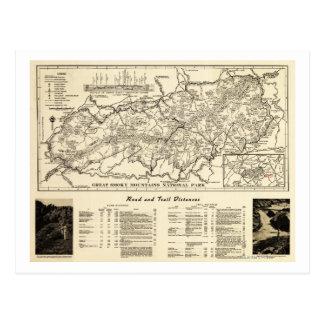 Great Smoky Mountains National Park Map Postcard