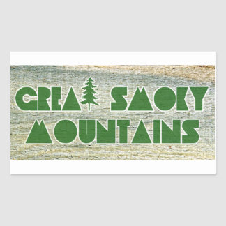 Great Smoky Mountains National Park Rectangular Sticker