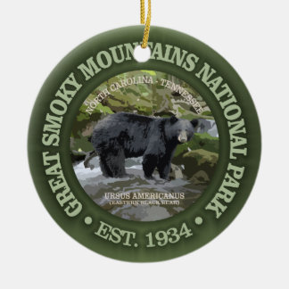 Great Smoky Mountains National Park Round Ceramic Decoration