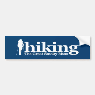 Great Smoky Mountains NP (Hiker C) Bumper Sticker