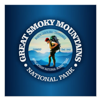 Great Smoky Mountains NP (Hiker C) Poster