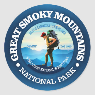 Great Smoky Mountains NP (Hiker C) Round Sticker