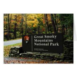 Great Smoky Mountains Sign Greeting Card