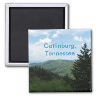 Great Smoky Mountains Square Magnet
