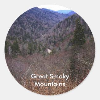 Great Smoky Mountains Round Sticker