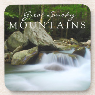 Great Smoky Mountains Stream Watefall Chimney Top Beverage Coasters