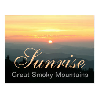 Great Smoky Mountains Sunrise Postcard