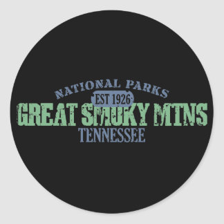 Great Smoky Mtns National Park Round Sticker