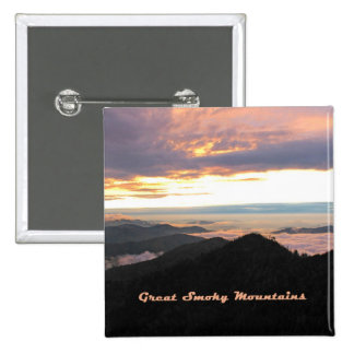 Great Smoky Mtns Sunset Button