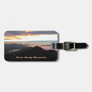 Great Smoky Mtns Sunset Bag Tags