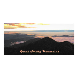 Great Smoky Mtns Sunset bookmarks Customised Rack Card