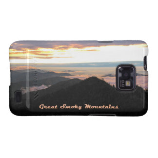 Great Smoky Mtns Sunset Samsung Galaxy SII Cases