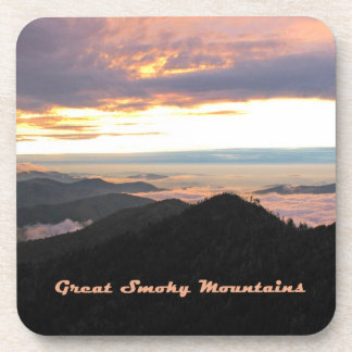 Great Smoky Mtns Sunset Coasters