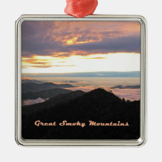 Great Smoky Mtns Sunset Ornaments
