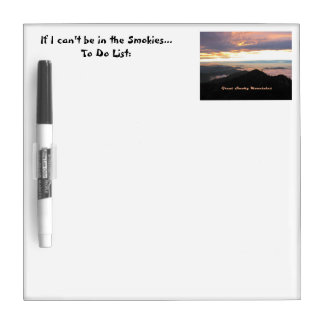 Great Smoky Mtns Sunset Dry-Erase Boards