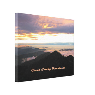 Great Smoky Mtns Sunset Gallery Wrapped Canvas