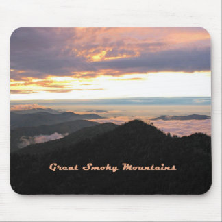 Great Smoky Mtns Sunset Mouse Pads