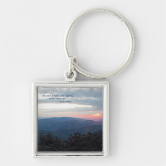 Great Smoky Mtns Sunset Mtns are calling J Muir Key Chain