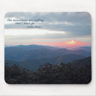 Great Smoky Mtns Sunset Mtns are calling J Muir Mousepads