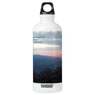 Great Smoky Mtns Sunset: Mtns are calling/J Muir SIGG Traveller 0.6L Water Bottle